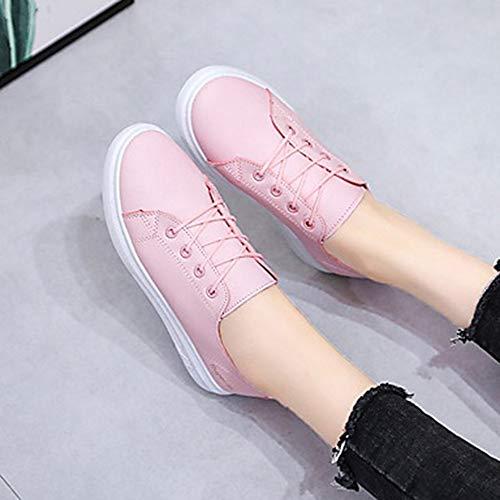 Primavera Piatto Blue Blu Scarpe US7 TTSHOES Donna Sintetico UK5 Giallo Per EU37 Comoda PU Sneakers Black Estate 5 CN37 Pink qgzXS