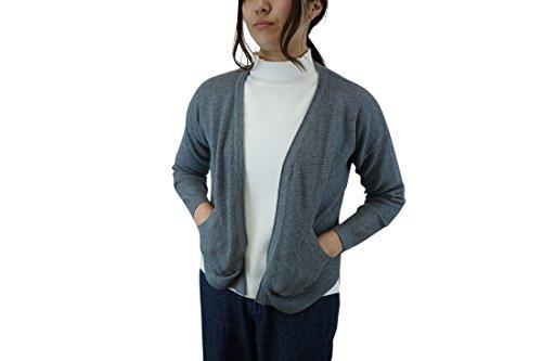 Crystal Mode レディース カーディガン ニット トップス ジャケット ゆったり 長袖 春秋冬 フリーサイズ グレー レッド ピンク