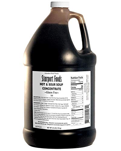 Starport Foods Hot and Sour Soup Concentrate - Gluten Free, 1/2 gallon (NET WT 4.8 lb, 76 oz)