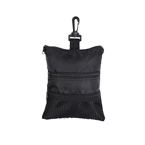 GOTOTOP Multi-Pocket Golf Bag Golf Ball Black Zipper Handbag Bag Useful Golf Ball Handbag Golf Accessories Bag(19 15.5cm / 7.5 6.1inch) by GOTOTOP (Image #7)
