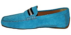 Men´s Suede Driving Shoe (12, Sky Blue)