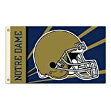 BSI NCAA Notre Dame Fighting Irish 3x5' Flag with Grommets-Helmet Design