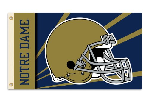 NCAA Notre Dame Fighting Irish 3-by-5 Foot Flag with Grommet