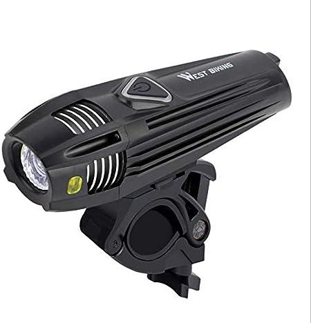 Advertencia de luz de bicicleta USB inteligente Faros LED Noche de ...