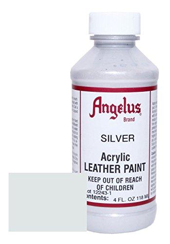 Angelus BCAC17304 Leather Paint 4oz Silver