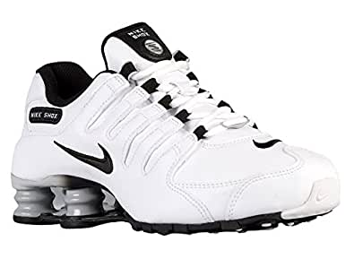 Amazon.com | Nike Women's Shox NZ EU White/Wolf Grey/Black
