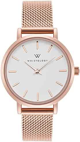 0040794c3aa WRISTOLOGY Charlotte Womens Watch Rose Gold Metal Mesh Ladies Changeable  Strap Band