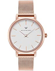 WRISTOLOGY Charlotte Womens Watch Rose Gold Metal Mesh Ladies Changeable Strap Band