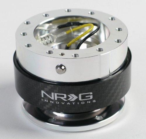 NRG Innovations SRK-100CF Silver/Carbon Fiber Quick Release