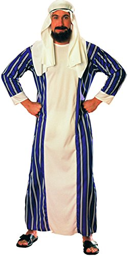 [Men's Large Sultan Desert Prince Arabian Sheik Costume With Headpiece] (Arabian Costumes For Men)