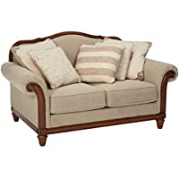 Ashley Furniture Signature Design - Berwyn View Loveseat - Traditional Style - Quartz