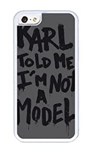 Apple Iphone 5C Case,WENJORS Awesome Karl told me Soft Case Protective Shell Cell Phone Cover For Apple Iphone 5C - TPU White