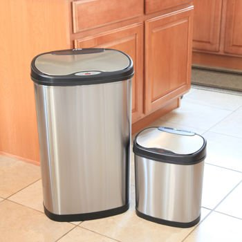 Nine Stars Stainless Steel Sensor Trash Can Combo