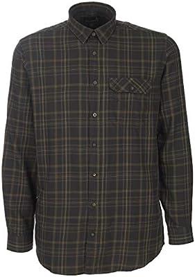 Seeland - Camisa de franela para cazadores de algodón - Suave camisa de leñador con refuerzo en los codos, talla: M, color: negro: Amazon.es: Deportes y aire libre