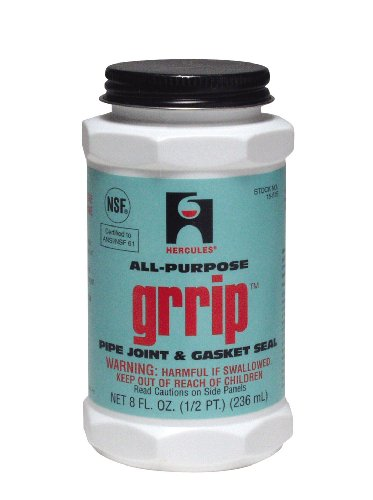 Small Joint Sealer - Oatey 15515 Hercules Grip Industrial Black Pipe Joint and Gasket Sealant