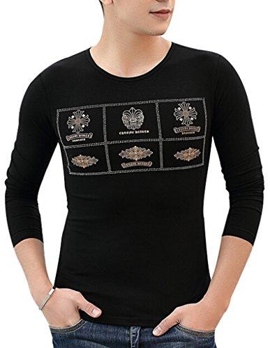 VENTELAN Men's 100% Cotton Long Sleeve Classic Geometric Stretch Western Shirt