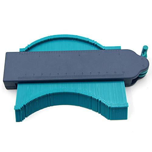 LAIWUSSY Plastic Profile Ruler Profile Gauge Profiler Profile Gauge Self-Locking Profile Ruler