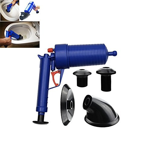 SODIAL Air Power Drain Blaster gun High Pressure Powerful Manual sink Plunger Opener cleaner pump for Bath Toilets Bathroom Shower kitchen Clogged Pipe Bathtub