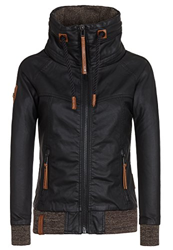 Naketano Women's Jacket Hilde Gorgonzola Black, XL by Naketano