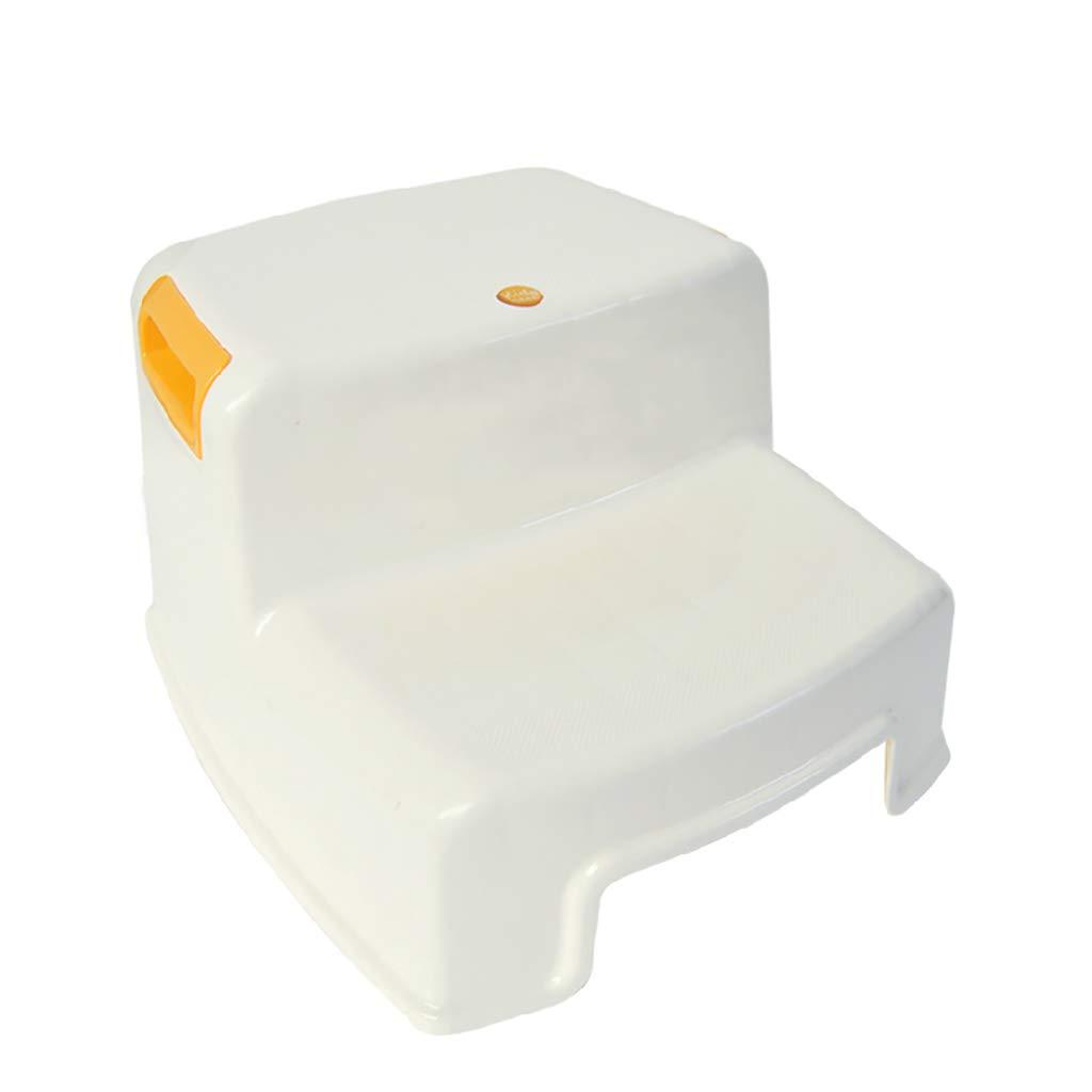 LFY Taburete de 2 escalones para niños, empuñadura Suave Antideslizante para Mayor Seguridad como Taburete de baño y Taburete de Cocina Taburete