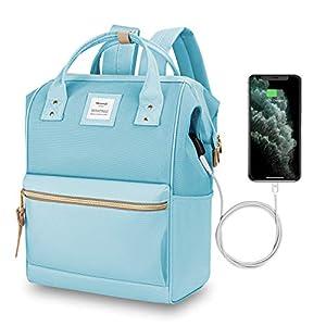 HETHRONE Sac à Dos Femme 15.6 Sac à Dos Pc Antivol Imperméable Backpack pour Scolaire Voyage Travail Décontracté Azur…