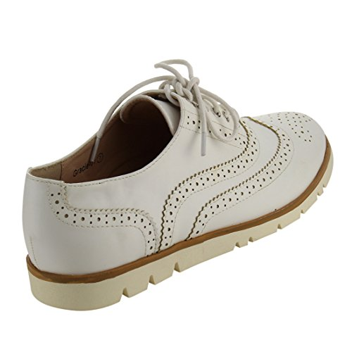 Vestido Con Cordones Wingtip Classical Wingtip Para Mujer Nature Breeze Fj20 Blanco Oxford