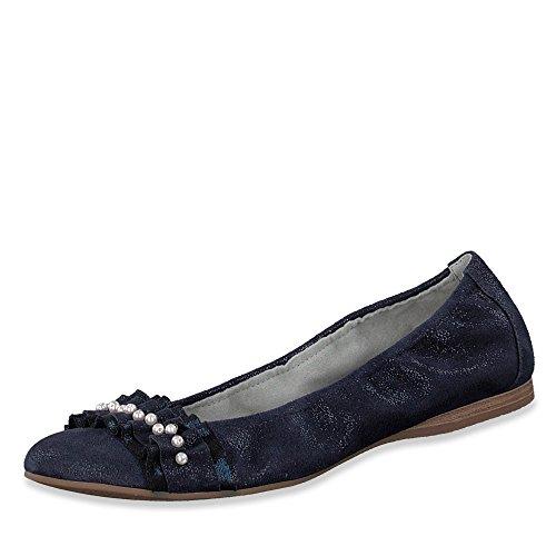 Tamaris Ladies Ballerina 1-22126-20-599 Rose/Pearl Blue g2g8y
