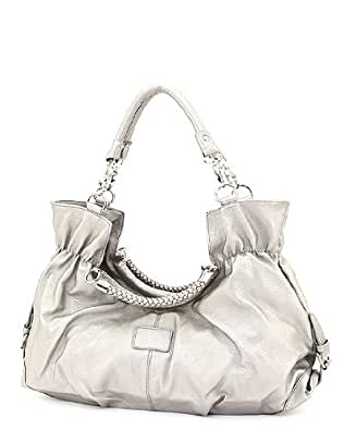 Designer Inspired Summer Callie Handbag - Silver