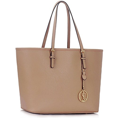 Bag Designer Plain Tote Floral Travel Large Women Xardi Nude Ladies Handbag Faux Leather London Shoulder q76x0w0T