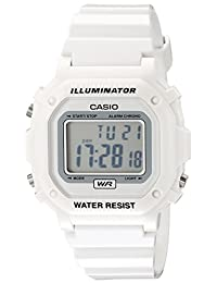 Casio F108WHC-7B sport watch - Reloj deportivo (44.4 x 42.6 x 10.3, White, CR2016, Resin)