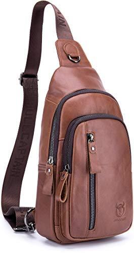 Genuine Leather Sling Bag,Full B07R3Y3TP5 Bag,Full Grain Leather Grain Casual Crossbody Shoulder Backpack Travel Hiking Vintage Chest Bag Daypacks for Men (Brown) [並行輸入品] B07R3Y3TP5, ウイスキー専門店 WHISKY LIFE:82d02e30 --- anime-portal.club