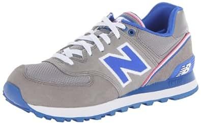 New Balance Women's WL574 Stadium Jacket Running Shoe,Grey/Blue,9 B US