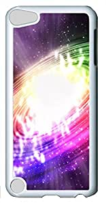 iPod Touch 5 Cases & Covers - Colorful Swirl Custom PC Soft Case Cover Protector for iPod Touch 5 - White