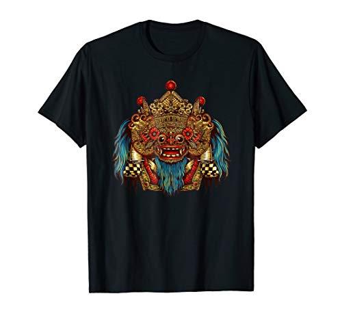Indonesian Barong Shirt, Bali Mask Shirt, Bali Luck Shirt
