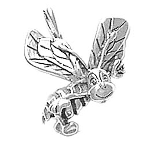 925-sterling-silver-honey-bee-wasp-hornet-buzzing-bumble-bee-pendant-charm