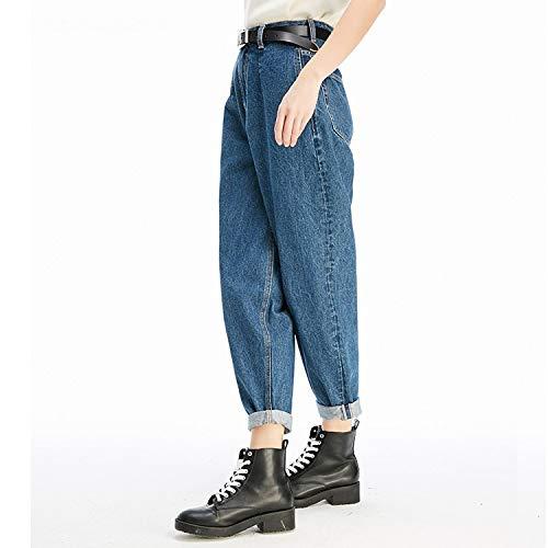 Donna Comodi Jeans L Mvguihzpo Blu Grandi Jeans Sottili Cowboy Nuovi pqRHg5
