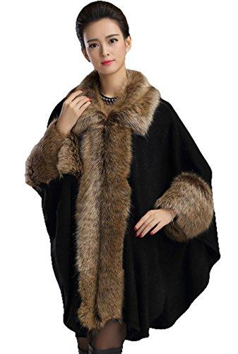 PLAER - Abrigo - capa - para mujer negro