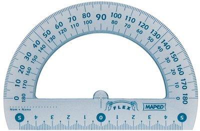 da ufficio 180 gradi in plastica infrangibile Maped-Goniometro 12 cm