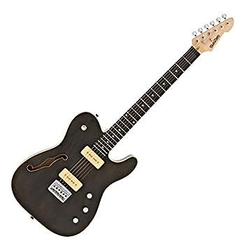 SubZero Paradigm Guitarra Eléctrica Semi-Hueca Trans Black: Amazon.es: Instrumentos musicales