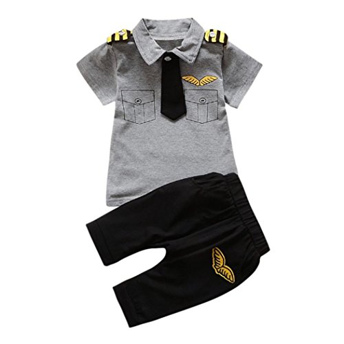 KEERADS Baby Clothes 2PCS Baby Boys Girls Stripe Hoodie Romper+Pants Outfits