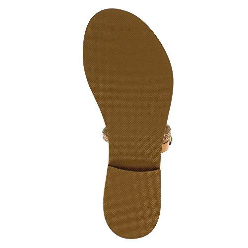 Evita Shoes Greta - Sandalias de vestir de Piel para mujer color carne