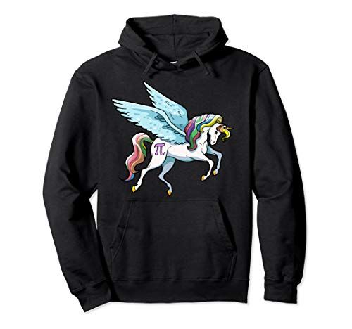 (Pi Day Hoodie Kids Unicorn Pi Magical Math Girls Boys Grunge)