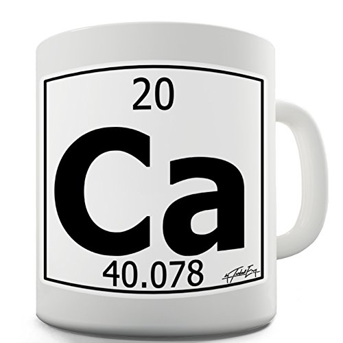 Twisted Envy Periodic Table Of Elements Ca Calcium Funny Mugs For Dad 15 OZ ()