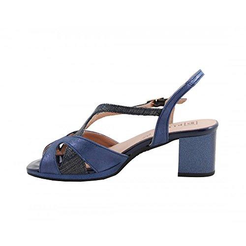 Benavente Sandalia Tacón Medio Pitillos 5004 Azul - Pitillos MARINO