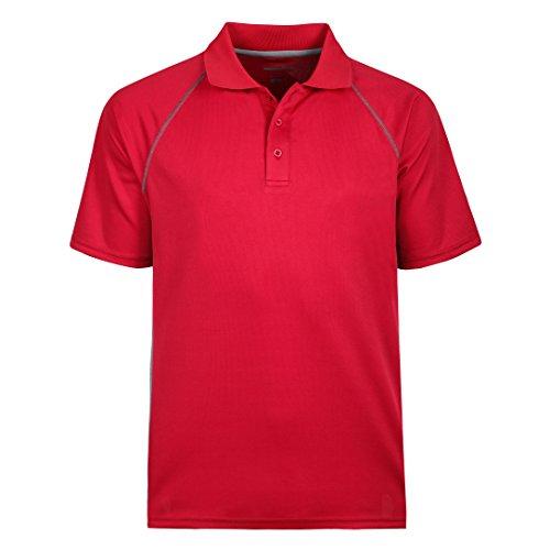(Men's Short Sleeve Moisture Wicking Performance Golf Polo Shirt, Side Blocked, Tall Sizes: M-7XL (M (Chest 47