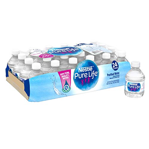 Nestle Pure Life Purified Water, 8 fl oz. Plastic Bottles (24 count)