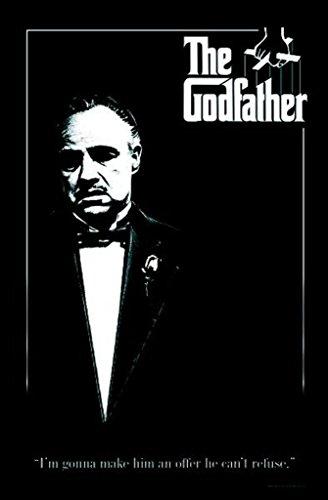 Pyramid America The Godfather Offer Quote Cant Refuse Marlon Brando Corleone Mafia Movie Rose Blacklight Poster 24x36 inch ()