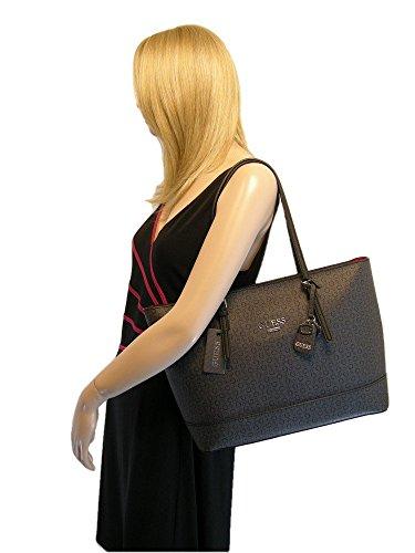 New Guess G Logo Purse Tote Hand Bag   Zip Wallet 2 Piece Matching Set Black 30064ca96c4f6
