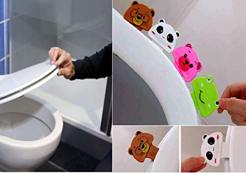 (HUELE 4pcs lovely cartoon four animal toilet Seat lifter handle Hygienice clean lifter lower)