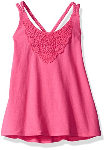 The Children's Place Big Girls' Crochet X-Back Tank, Geraniumpink, M (7/8) (Girls Top)